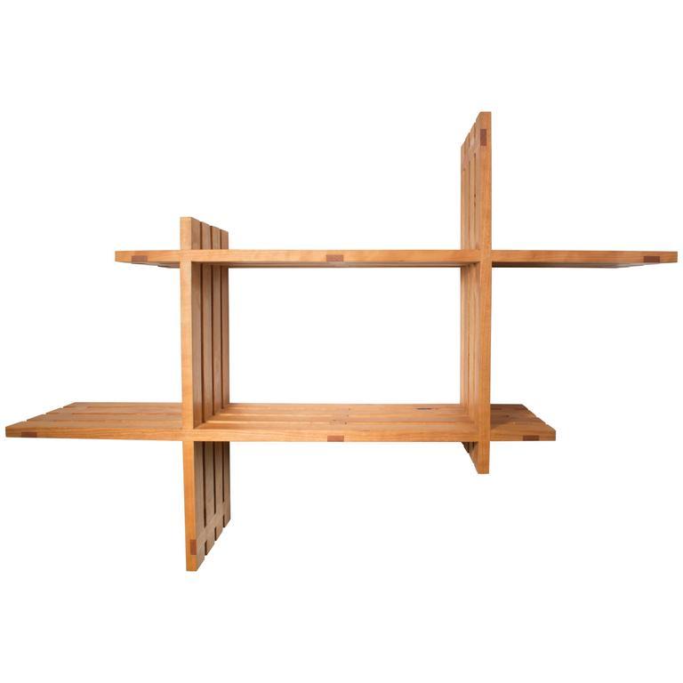 Cross Shelving : cherry , handmade original design, made to order