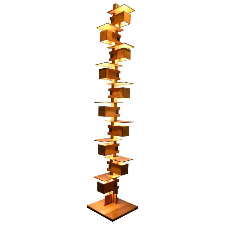 Fantastic taliesin frank lloyd wright wood floor lamp at for Taliesin 2 floor lamp