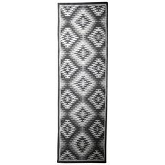 Nordic Style Modern Neutral Color Wool and Cotton Woven Kilim Runner/Rug
