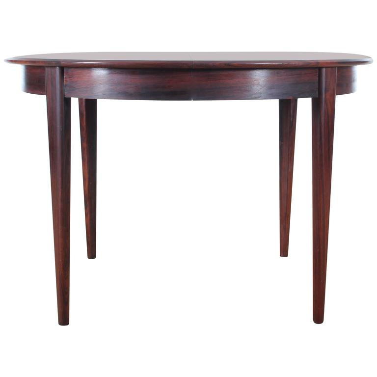 Scandinavian round dining table in rosewood at 1stdibs - Scandinavian teak dining room furniture design ...