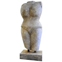 Indian Style Marble Torso Sculpture