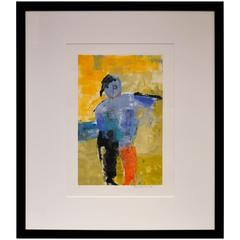 Abstract Figurative Monoprint by Carole Hicks