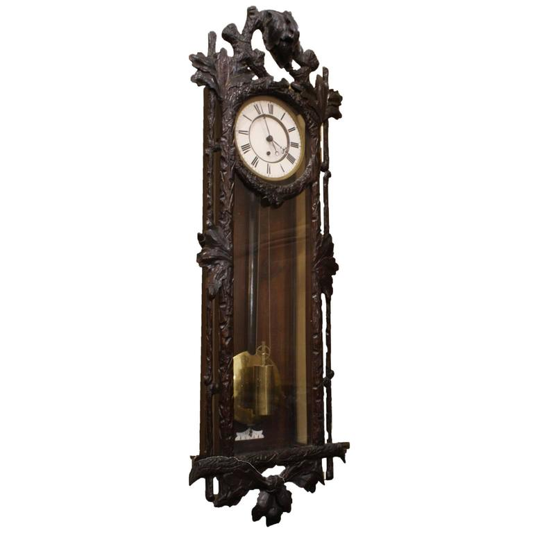 Late 19th Century Vienna Regulator Wall Clock For Sale