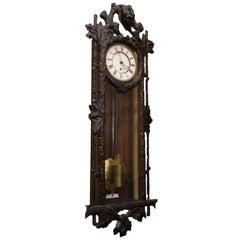 Late 19th Century Vienna Regulator Wall Clock