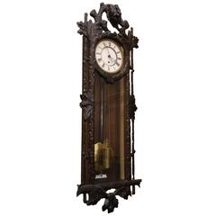 Late 19th Century Vienna Regulator Wall Clock