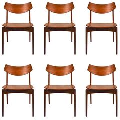 Six Eric Buck for Madsen Teak Dining Chairs