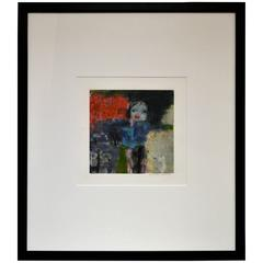 Abstract Figurative Monoprint by Carole Hicks