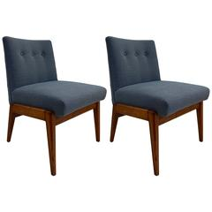 1960 Pair of Jens Risom Slipper Chairs