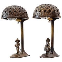 Two Jugendstil Table Lamps