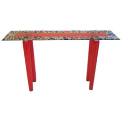 One of a Kind Murano Glass Console Table
