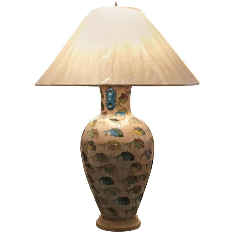 antique persian ceramic table lamp for sale at 1stdibs. Black Bedroom Furniture Sets. Home Design Ideas