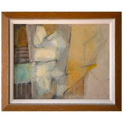 Abstract Original Oil on Canvas C.1960's