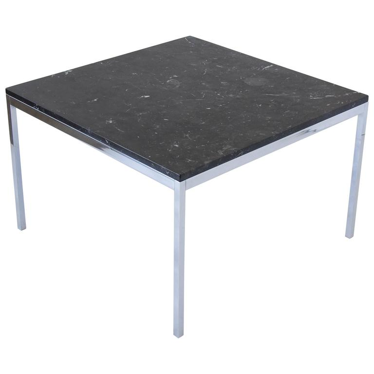 Knoll Marble And Chrome Square Coffee Table At 1stdibs