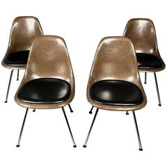 Charles and Ray Eames Fiberglass Shell Chairs, Vitra Base, Skai Seating
