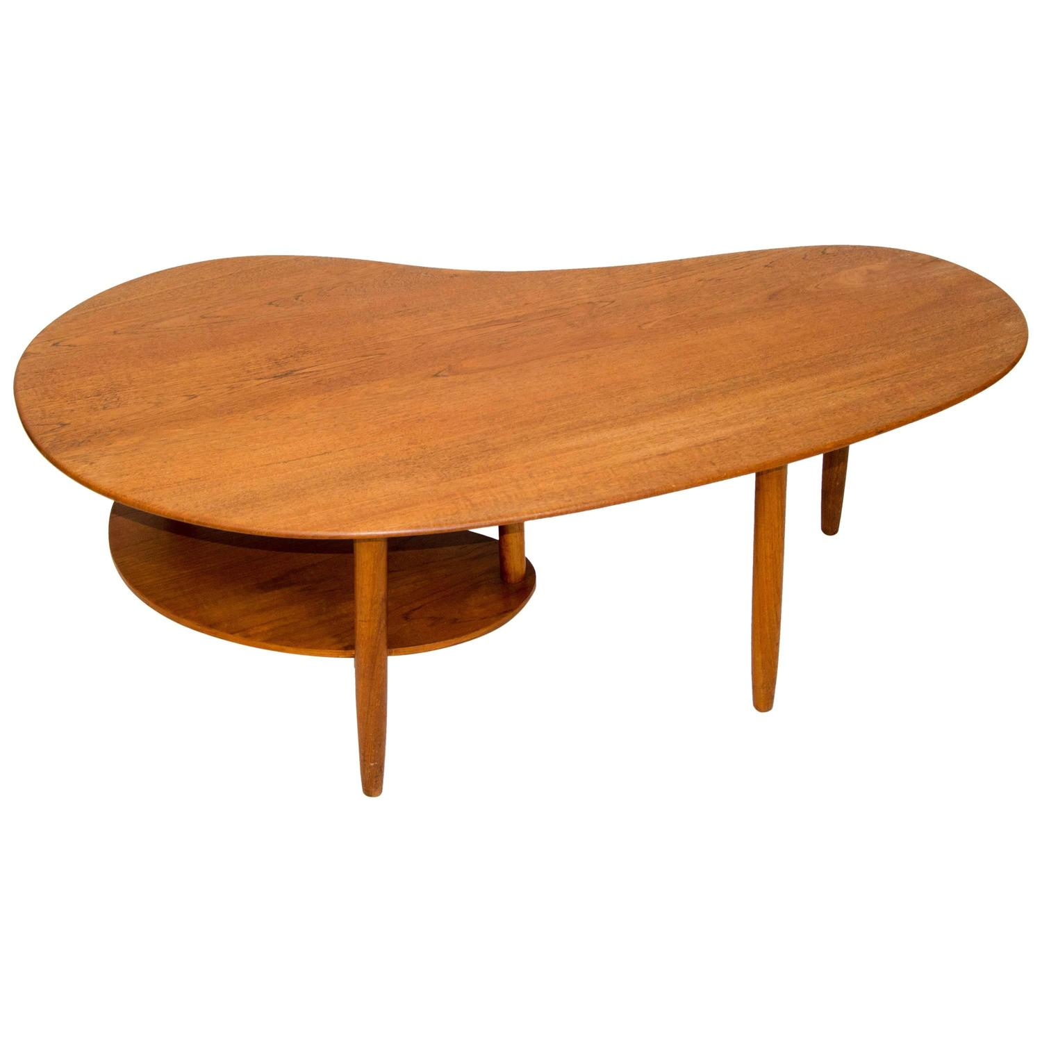 Kidney Shaped Coffee Table Bean