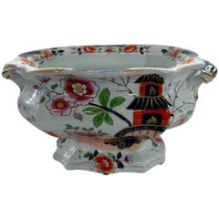 Antique English Hicks, Meigh and Johnson Ironstone Large China Pedestal Compote