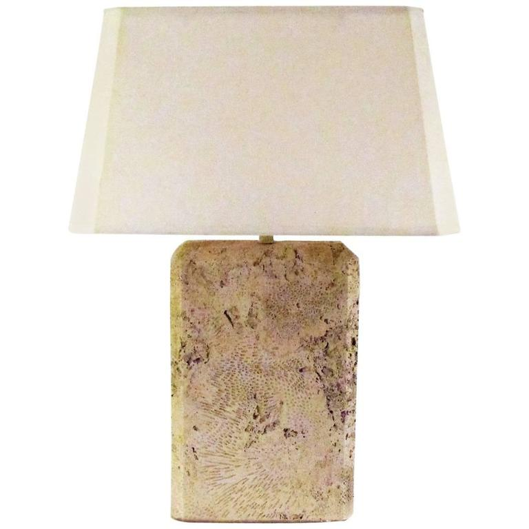 Monumental Fossilized Coral Table Lamp 1