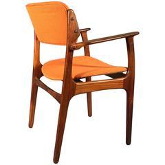 Erik Buck Rosewood Armchair for O.D. Møbler A/S, Demark, 1957