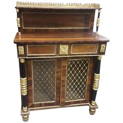 Regency-Style Rosewood Cabinet with Super Structure