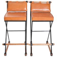 Pair of Cleo Baldon Style Bar Stools