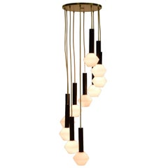 Ten-Tier Cascading Chandelier by Tapio Wirkkala for Oy Airam AB, Finland