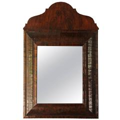 English Rosewood Mirror with Removable Arched Top, 18th Century Antique