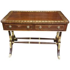 Regency Style Rosewood Writing Table