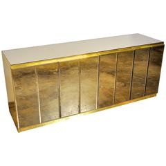 Ello Mirrored and Brass Credenza