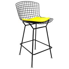 Knoll Harry Bertoia Black Bar Stool