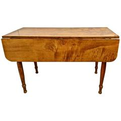 Exceptional and Rare Early Sheraton Child's Drop-Leaf Federal Table