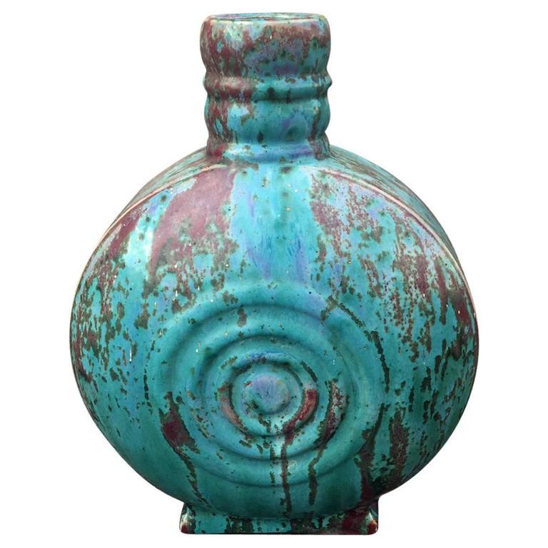 Glazed Ceramic Vase by Primavera, Signed on Base, Primavera