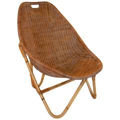 1960s Bamboo and Rattan Chair