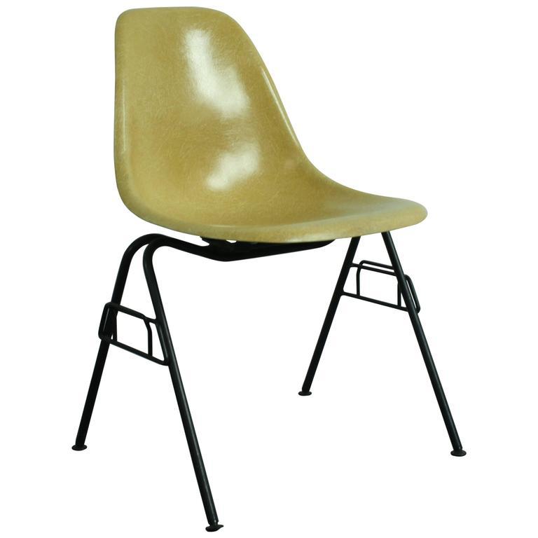 charles eames herman miller dss chair in light ochre on original