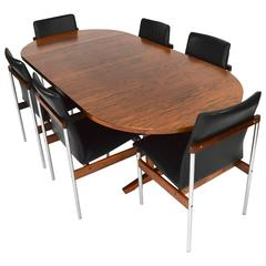 Brazilian Rosewood Dining Set, Netherlands, 1960s