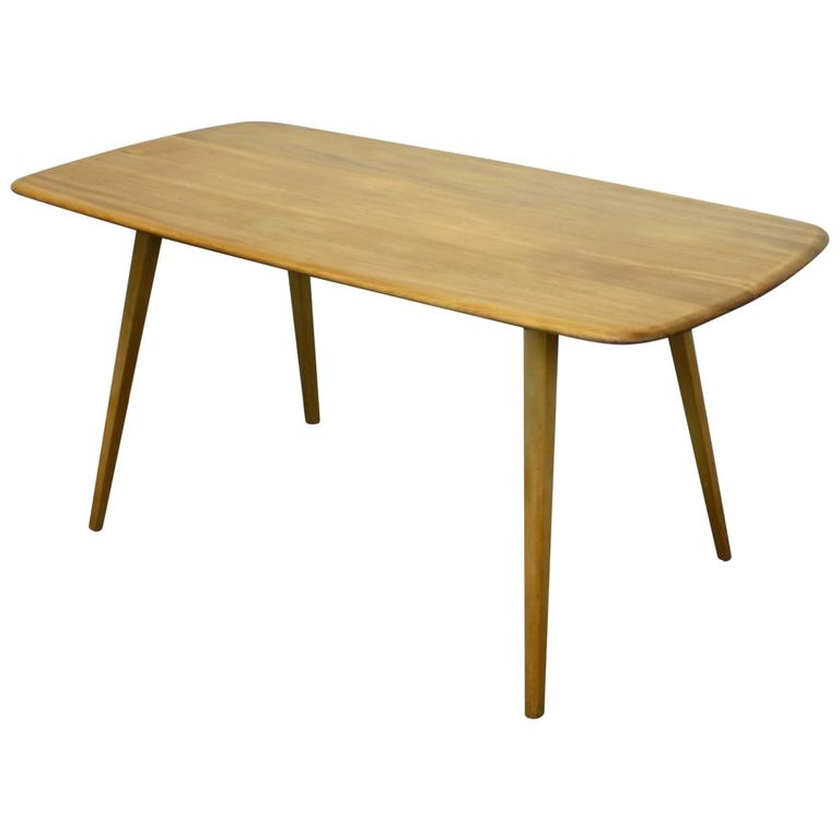 Ercol Plank Elm And Beech Dining Table For Sale At 1stdibs