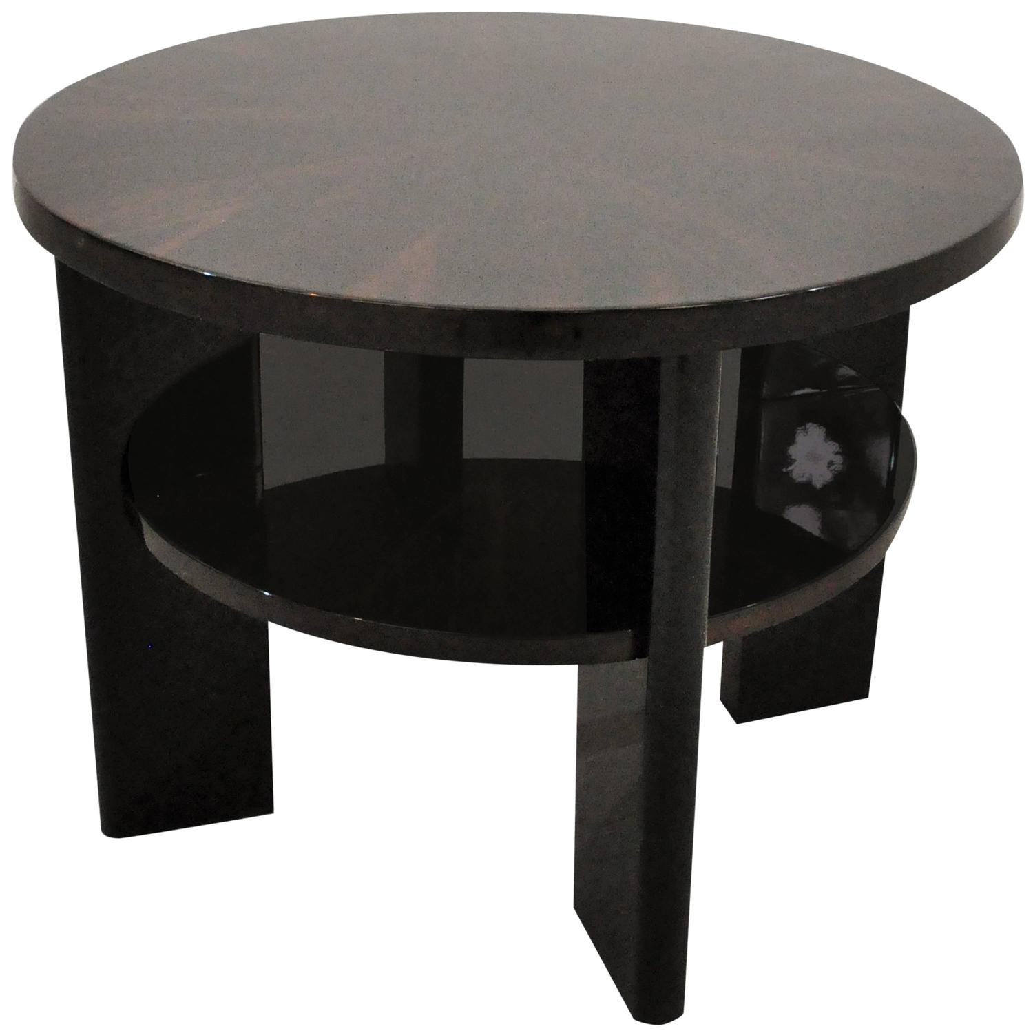 french art deco macassar side table paris 1930s at 1stdibs. Black Bedroom Furniture Sets. Home Design Ideas