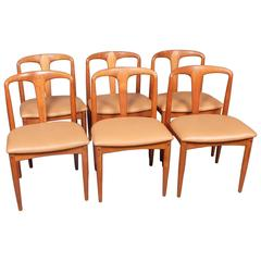 Johannes Andersen Teak Juliane Dining Chairs, Danish, 1960s
