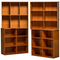 Mid-20th Century Mogens Koch Bookcases Made of Solid Oregon, Pine