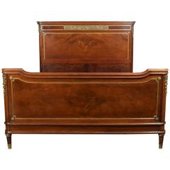 French Mahogany Double Bed