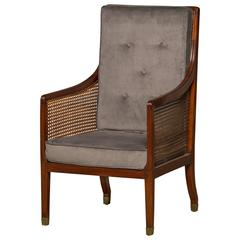 Early 19th Century Regency Armchair in Mahogany and Cane