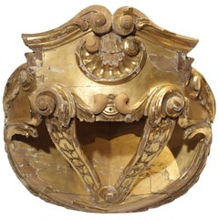 18th Century French Giltwood Ciel de Lit or Bed Crown