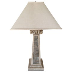 Maitland-Smith Tessellated Marble Lamp