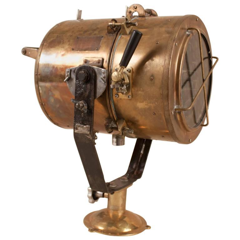 Vintage Nautical Brass Daylight Signaling Lamp