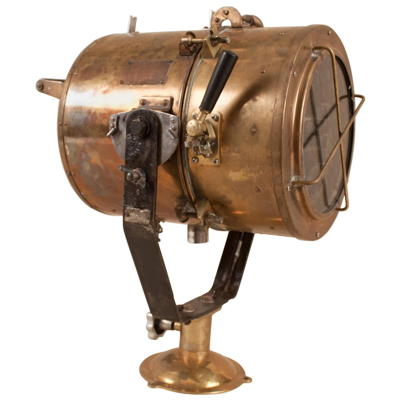 vintage brass nautical daylight signaling lamp for sale at 1stdibs. Black Bedroom Furniture Sets. Home Design Ideas