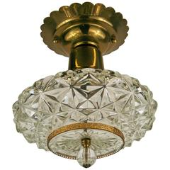 ON SALE Faceted Glass Ceiling Fixture(2 available)