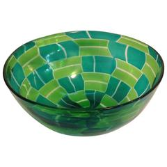 Rare Barovier and Toso Murano Patchwork Bowl Designed by Ercole Barovier