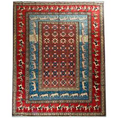 Magnificent Antique Rugs, Pazyryk Persian Rugs, Carpet from Semnan