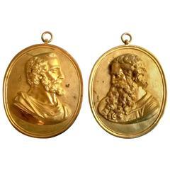 Pair of 19th Century Empire Medallions