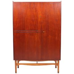 Rare Teak and Beech Cabinet/Wardrobe by Finn Juhl for Bovirke, 1950s