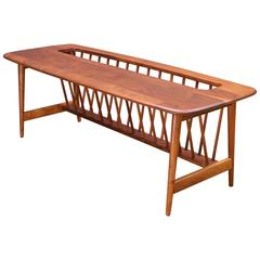 Walnut Magazine Rack Coffee Table for Washington Woodcraft
